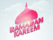 Greeting card for Muslims holy month Ramadan Kareem celebration. Royalty Free Stock Photo