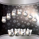 Greeting card with the New Year 2013. Vector illustration  Greeting card with the New Year 2013 Royalty Free Stock Images