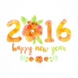 Greeting card for New Year 2016 celebration. Stock Image