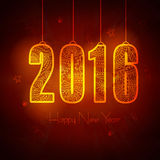 Greeting card for New Year celebration. Royalty Free Stock Images