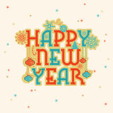 Greeting card for New Year celebration. Stock Photography
