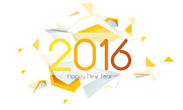 Greeting card for New Year 2016 celebration. Stock Photography