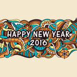 Greeting card for New Year 2016 celebration. Royalty Free Stock Photography