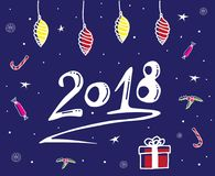 Greeting card for New Year Stock Images