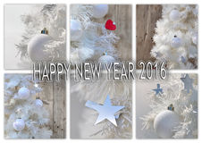 Greeting card new year 2016 Stock Photos