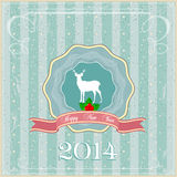 Greeting card of New Year Royalty Free Stock Images