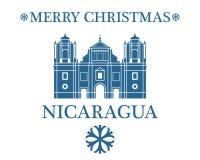 Greeting Card Nicaragua royalty free illustration
