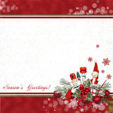 Greeting card with Nutcracker Royalty Free Stock Photo