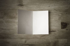 Greeting Card Opened on Wooden Table Royalty Free Stock Photo