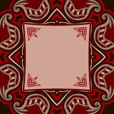 Greeting card with oriental pattern Royalty Free Stock Image