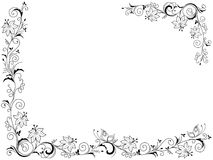Greeting card with floral frame. Greeting card with ornate swirl floral frame  isolated on the white background, vector illustration Stock Image