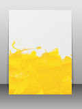 Greeting card with paint splashes. Stock Photography