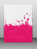 Greeting card with paint splashes. Royalty Free Stock Image