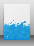 Greeting card with paint splashes. Stock Photo
