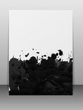 Greeting card with paint splashes. Stock Images