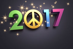 2017 Greeting card for peace Stock Photography