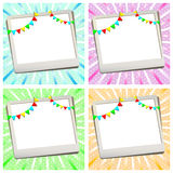Greeting card with photo frame. There is greeting card with photo frame Stock Image