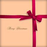 Greeting card with pink bow Stock Photography