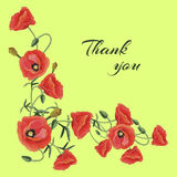 Greeting card with Poppies Royalty Free Stock Images
