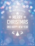 Christmas Greetings Typography. Greeting Card and Poster Design Royalty Free Stock Photo