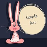 Greeting card. Rabbit Royalty Free Stock Photos