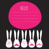Greeting card with rabbits Royalty Free Stock Photos