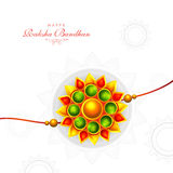 Greeting Card with Rakhi for Raksha Bandhan. Royalty Free Stock Images