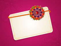 Greeting card for Raksha Bandhan celebration. Stock Images