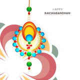 Greeting card for Raksha Bandhan celebration. Royalty Free Stock Photos