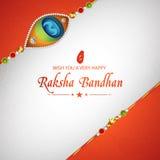 Greeting card for Raksha Bandhan celebration. Stock Photo