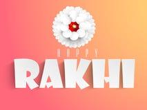 Greeting card for Raksha Bandhan celebration. Stock Photography