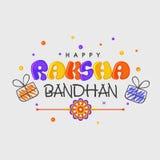 Greeting card for Raksha Bandhan celebration. Stock Images