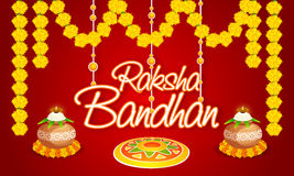 Greeting card for Raksha Bandhan celebration. Royalty Free Stock Image