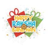 Greeting card for Raksha Bandhan celebration. Royalty Free Stock Images