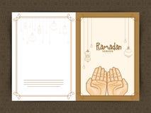 Greeting card for Ramadan Kareem celebration. Royalty Free Stock Images