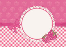 Greeting card with raspberry Stock Photography