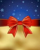 Greeting Card With A Red Bow. This is file of EPS8 format Stock Photo