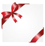 Greeting-card with a red bow. Vector  illustration Royalty Free Stock Images