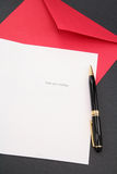 Greeting card and red envelope Royalty Free Stock Photo