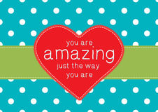 Greeting card with red heart Royalty Free Stock Photos