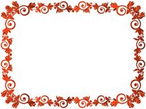 Greeting card with floral frame. Greeting card with red ornamental floral frame on the white background, vector illustration Royalty Free Stock Photo