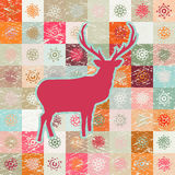 Greeting card with reindeer. EPS 8 Royalty Free Stock Images