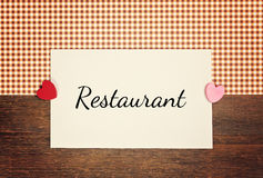 Greeting-card - restaurant Royalty Free Stock Image