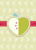 Greeting card with retro apple Royalty Free Stock Photo