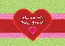 Greeting card with retro heart Stock Images
