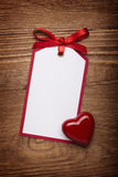 Greeting card with ribbon bow Royalty Free Stock Image