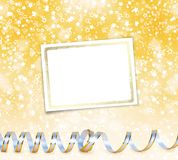 Greeting card with ribbons on a beautiful background Royalty Free Stock Photo