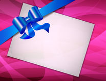 Greeting card with ribbons Stock Photography