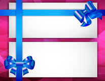 Greeting card with ribbons Royalty Free Stock Images