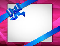 Greeting card with ribbons Stock Photo